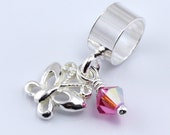 Butterfly Charm - free shipping - you choose 1 color