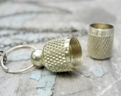 love note - Secret brass capsule container pendant Necklace - vial, canister, keepsake memento