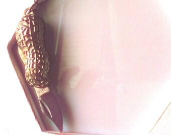 Peanut pocket knife necklace