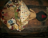 Primitive Pattern Topsy Turvy Annie Mammy cloth doll