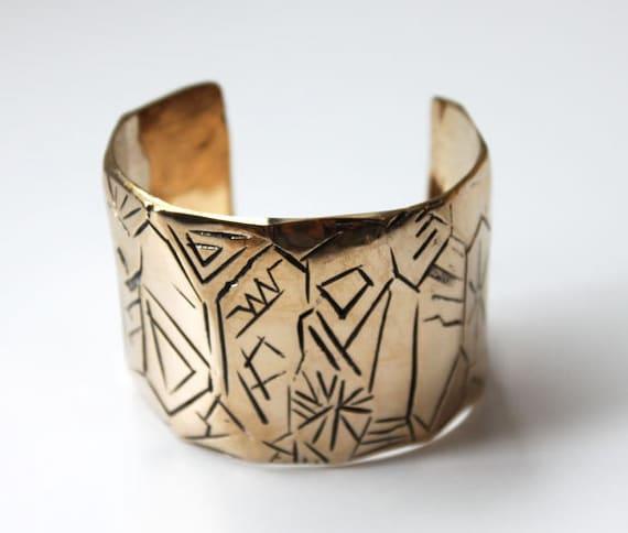 Cave Dweller Cuff  in bronze