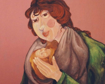 ACEO Print - Mother and Child