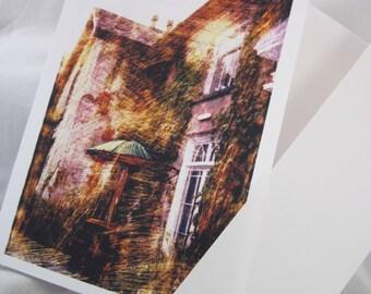 Blank Card - Hostel at Aberystwyth altered photograph