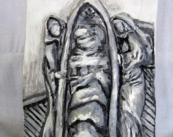 Relief Sculpture - The Tarot Death Card