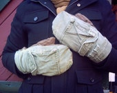 upcycled mittens with back pocket (mens)