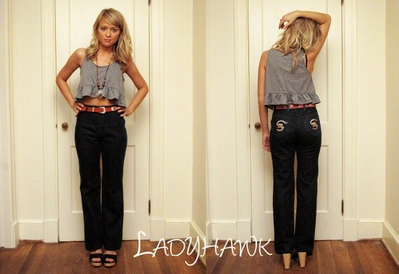 REDUCED PRICE vintage high waist denim bell bottoms maverick jeans