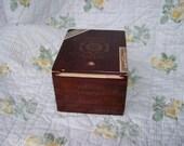 Sewing Box Made from Upcycled Cigar Box