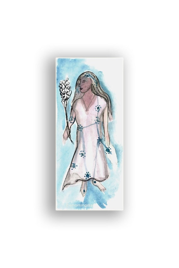 Virgo Astrology Zodiac original painting for September - October