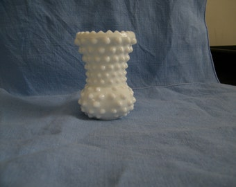Fenton Hobnail Milk Glass Toothpick Holder/Vase