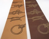Last Boy Scout - hand screened knots silk tie in two color choices, ready to ship
