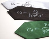Physics Necktie - Drag Coefficient - Gift Wrapped