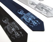Mens Neck Tie - Skeleton Necktie - Choose your color and quantity - Gift Wrapped