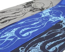 Men's Tie - Cthulhu Necktie - Premium Quality Silksreeened Neck Tie - Choose your color(s) and quantity