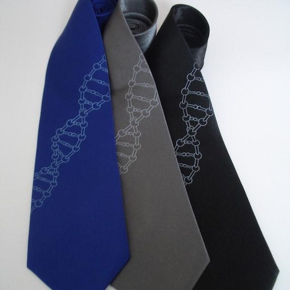 DNA Helix - Silk standard width necktie in five color choices.