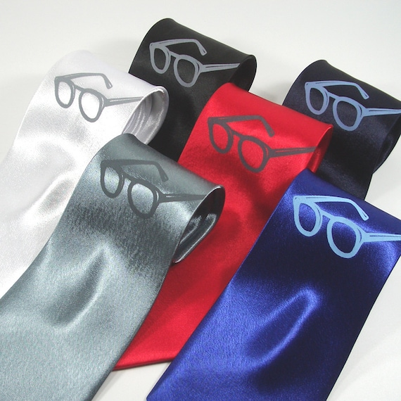 X Ray Specs Necktie - Premium Quality Screen Printed Tie - Gift wrapped - Choose color and quantity