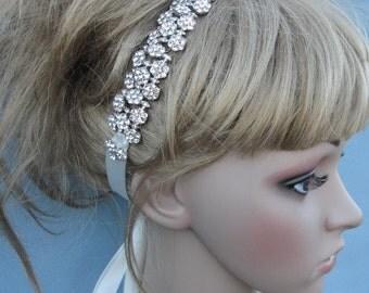 wedding headband Rhinestone bridal headband Wedding hair jewelry bridal tiara headband Wedding hair piece wedding hair band bridal hair band