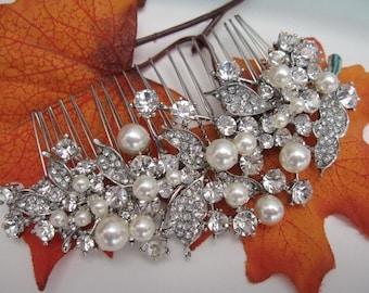 Pearl bridal hair comb wedding hair jewelry wedding hair comb bridal hair accessories wedding comb pearl bridal hairpiece wedding jewelry