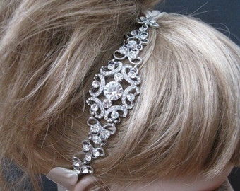 Bridal Headband Rhinestone,Crystal wedding headband,bridal hair accessories,rhinestone bridal headbands,wedding headpieces,bridal crystal