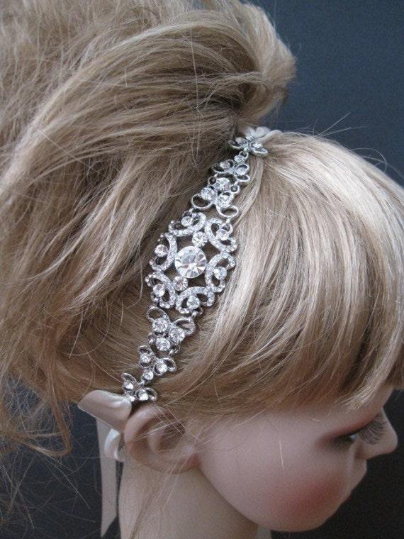 Bridal Headband Rhinestone,Crystal wedding headband,bridal hair accessories,rhinestone bridal headbands,wedding headpieces,bridal crystal