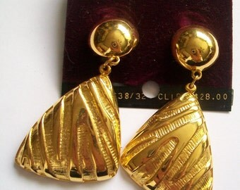 SALE - Vintage Anne Klein Clip-On Earrings -  Never Worn