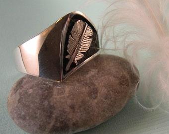 Feather Ring, Sterling Silver