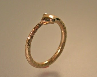 14k Gold Ouroboros Ring