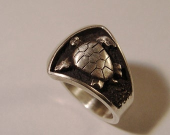SEA TURTLE Ring, Sterling Silver