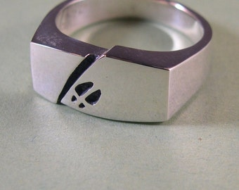 Deer track Ring, Sterling Silver