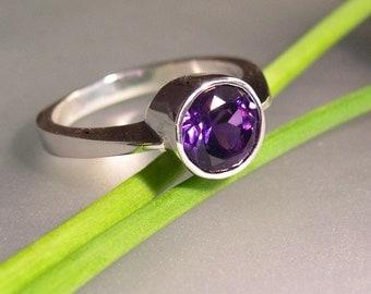 Royal Purple Amethyst Ring, Sterling Silver