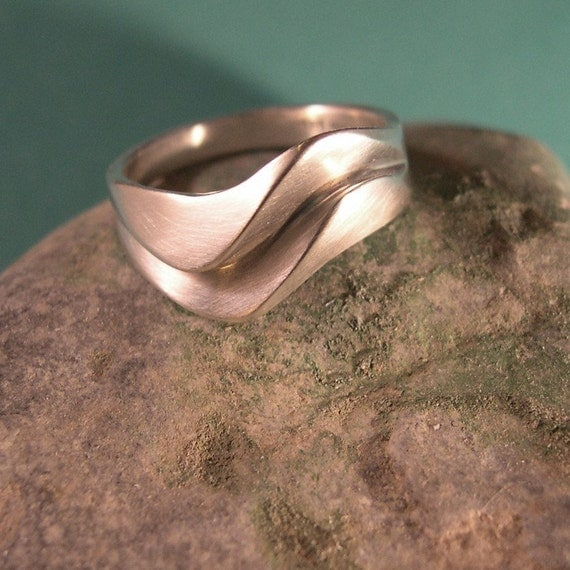 Double Wave Ring, Sterling silver