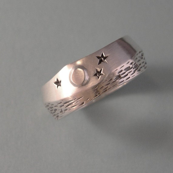 MOON OVER WATER, Sterling Silver Ring for Men or Women