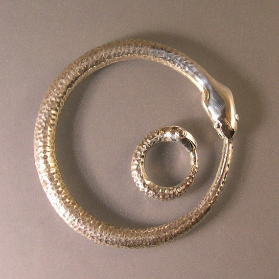 OUROBOROS HATCHLING, Sterling Silver