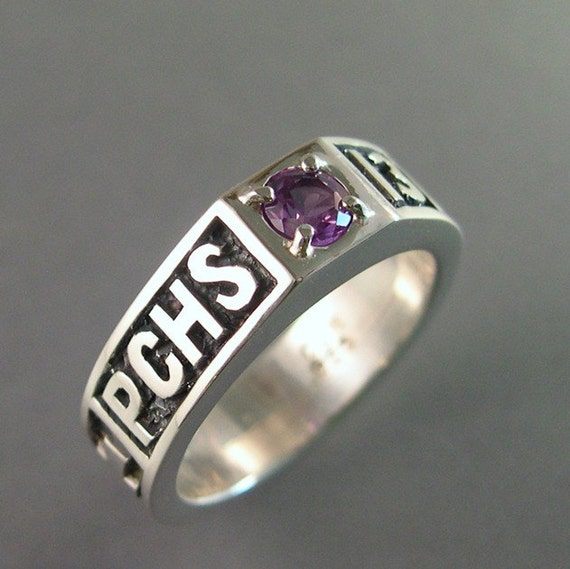 Class Ring Custom Made Sterling Silver