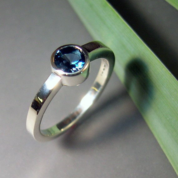 London Blue Topaz Ring, Sterling Silver