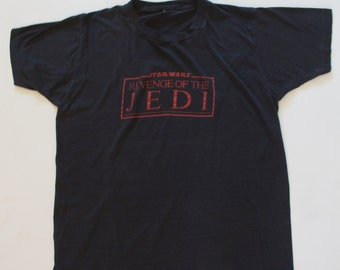 Vintage Star Wars T-Shirt : Revenge of the Jedi   1980s   RARE -