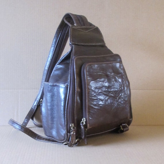 Leather Backpack Distressed Looking