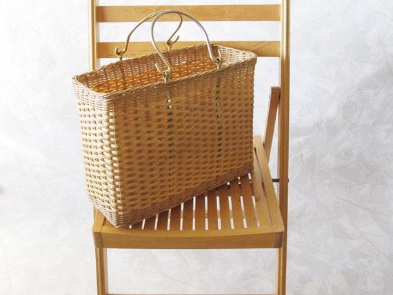 Vintage Market Basket / 1960's Estate Find