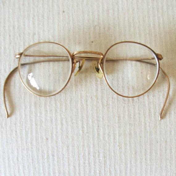 antique eyeglasses wire rimmed gold filled