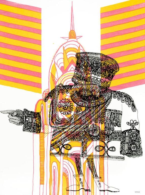 General no. 6  Artprint by Seripop - hand pulled silkscreen poster