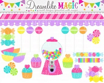 Little Heart Sweet Shop Collection- Clipart for Personal or Commercial Use