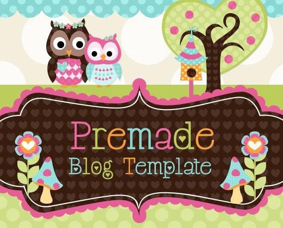 blogger template mom and me owls design. Black Bedroom Furniture Sets. Home Design Ideas
