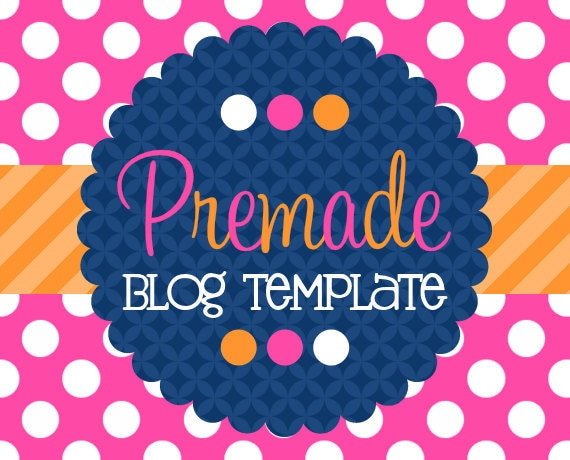 Blogger Template- Orange and Rose with Navy Design