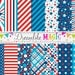 Happy 4th of July- Digital Paper Pack for Personal or Commercial Use