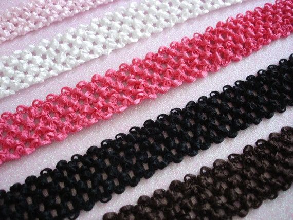 Crochet Baby Headband Several Colors Available 1.5 inch width
