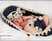 Newborn Sailor Basket Egg Bowl Photo Prop Set 3pc / Hat & Diaper C. Bowl Photography Newborns / GIFT Infants Girl Boy All Babies Photo shoot
