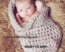 Cocoon Egg Baby wrap Photo prop in Brown Sugar, Photography Nest New Baby, Photo shoot Cocoon Wrap, GIFT Newborns Baby Shower Ready to ship