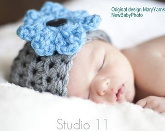 Newborn Hat, Flower Baby Photo prop, Beanie Hat 26 colors, Photography Baby Hat, Photo Shoot Hat, Beanie Hat, Cap Baby Hat, Baby Photo Hat