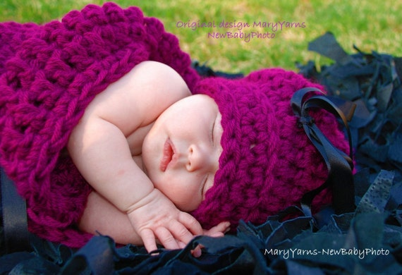 HAT and Cocoon Baby Newborn Photo Prop in WILDBERRY Photo Shoot all babies Photography newborns baby girl photography new baby Perfect GIFT