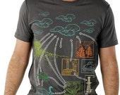 Carbon Cycle Tshirt Graphic Science tee MENS shirt