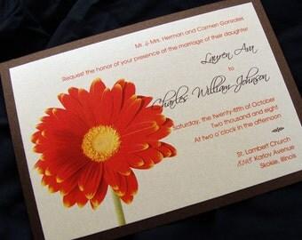 Gerber Daisy Wedding Invitation Sample Set
